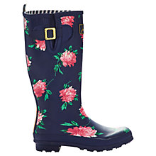 Buy Joules Peony Print Wellington Boots, Navy Online at johnlewis.com