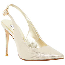 Buy Dune Carie Pointed Court Shoes, Champagne Online at johnlewis.com