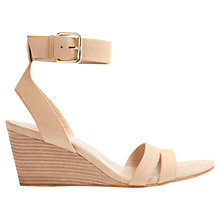 Buy Mint Velvet Guila Leather Wedge Sandals, Sand Online at johnlewis.com