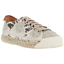 Buy Dune Black Frankie Lace Up Leather Espadrilles, Neutral Online at johnlewis.com