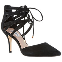 Buy Dune Cristina Lace Up Suede Court Shoes Online at johnlewis.com