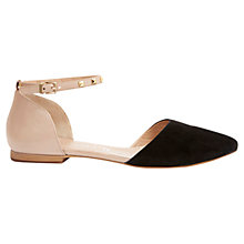 Buy Mint Velvet Lottie Leather Pointed Shoes, Black/Nude Online at johnlewis.com
