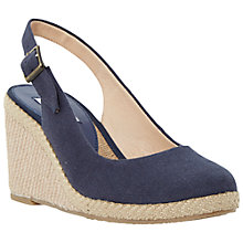 Buy Dune Karley Canvas Wedge Heeled Sandals Online at johnlewis.com