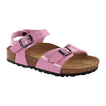 Buy Birkenstock Children's Rio Sandals, Pink Online at johnlewis.com