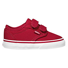 Buy Vans Atwood Canvas Trainers, Red/White Online at johnlewis.com