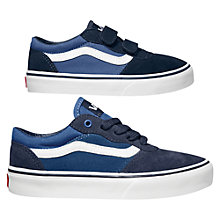 Buy Vans Milton Leather Canvas Trainers, Navy Online at johnlewis.com