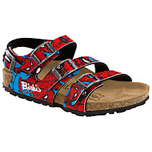 Buy Birkenstock Elice Spiderman Three Buckle Sandals, Red/Blue Online at johnlewis.com