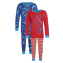 Buy John Lewis Boy Dinosaur Print Pyjama, Pack of 2 Online at johnlewis.com