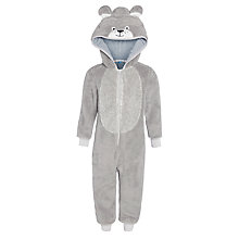 Buy John Lewis Boys' Dog Theme Onesie, Grey Online at johnlewis.com