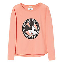 Buy Mango Kids Glitter Disney Long Sleeve T-Shirt Online at johnlewis.com