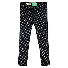 Buy Mango Kids Star Print Trousers, Black Online at johnlewis.com