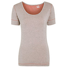 Buy Calvin Klein Marl Jersey Top, Heather Online at johnlewis.com