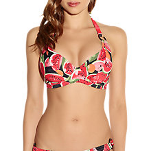 Buy Freya Watermelon Halter Halter Bikini Top, Coral Online at johnlewis.com