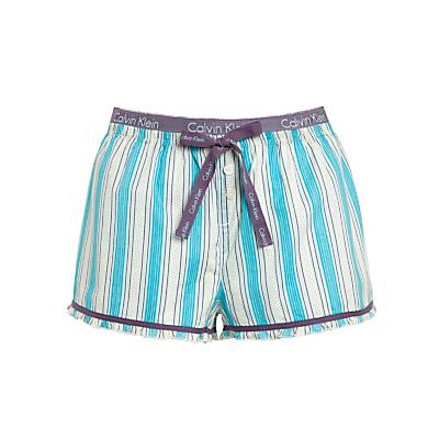 Calvin Klein Stripe Pyjama Shorts, Ivory