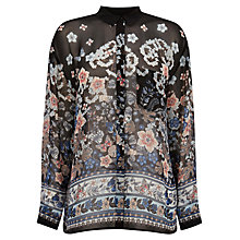 Buy Warehouse Pattern Butterfly Blouse Top, Black Pattern Online at johnlewis.com