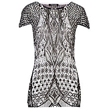 Buy Betty Barclay Abstract Print Top, Black/White Online at johnlewis.com