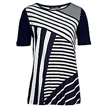 Buy Betty Barclay Diagonal Stripe T-Shirt, Dark Blue / White Online at johnlewis.com