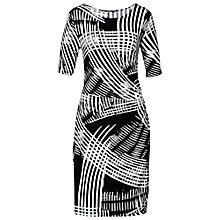 Buy Betty Barclay Wrap Effect Dress, Black / White Online at johnlewis.com