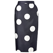 Buy L.K. Bennett Luchia Long Pencil Skirt, Cream/Navy Online at johnlewis.com