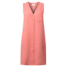 Buy East Mika Linen Sleeveless Dress, Flamingo Online at johnlewis.com