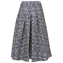 Buy L.K. Bennett Alton Tweed Skirt, Navy/Cream Online at johnlewis.com