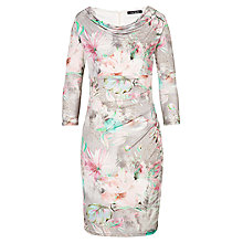 Buy Betty Barclay Flower Dress, Grey Online at johnlewis.com