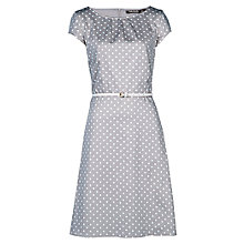 Buy Betty Barclay Spot Belted Dress, Grey/Cream Online at johnlewis.com