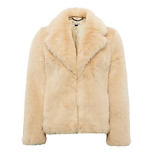 Buy Whistles Kumiko Short Faux Fur Coat, Neutral Online at johnlewis.com