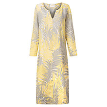 Buy East Palm Leaf Print Linen Kaftan, Lemon Online at johnlewis.com