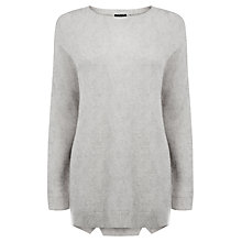 Buy Warehouse Textured Loose Crew Neck Jumper Online at johnlewis.com