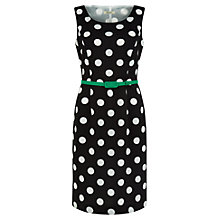 Buy Precis Petite Spotty Woven Dress, Black Online at johnlewis.com