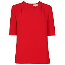 Buy L.K. Bennett Arlo Loose Fitted Top, Salsa Red Online at johnlewis.com