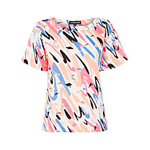 Buy Warehouse Brush Stroke Top, Multi Online at johnlewis.com