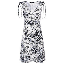 Buy Betty Barclay Snake Print Dress, Black/White Online at johnlewis.com