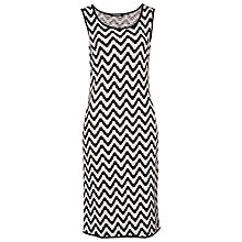 Buy Betty Barclay Chevron Print Dress, Black/White Online at johnlewis.com