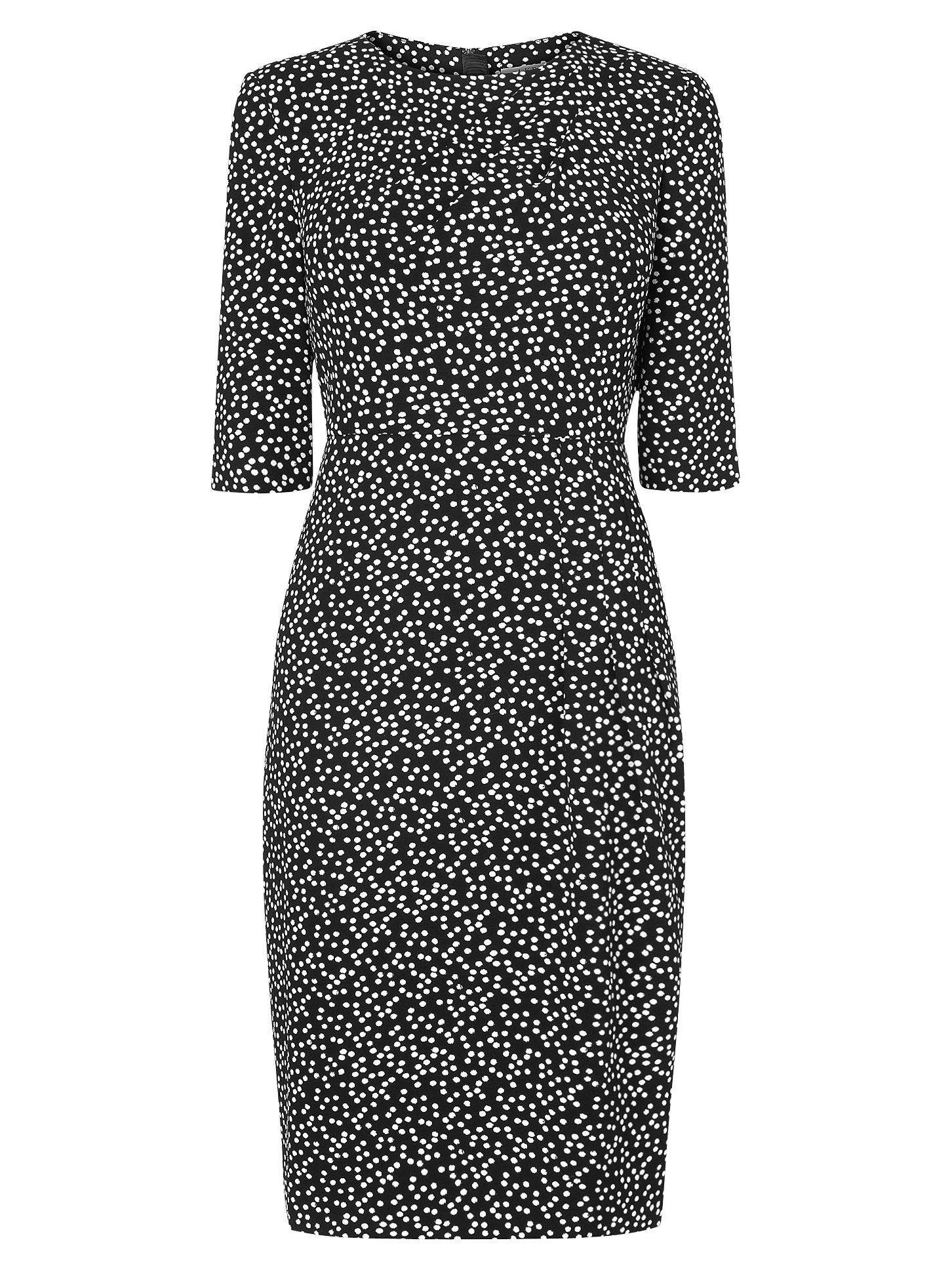 lk bennett yolanda printed dress cream/black, bennett, yolanda, printed, dress, cream/black, lk bennett, 10|12|8|14|18|6|16, women, womens dresses, gifts, wedding, wedding clothing, female guests, new season workwear, 1843396
