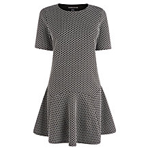 Buy Warehouse Geo Jacquard Dress, Black Online at johnlewis.com