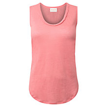 Buy East Plait Detail Linen Vest Top Online at johnlewis.com