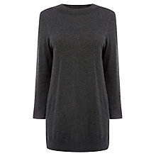 Buy Warehouse High Neck Jumper, Dark Grey Online at johnlewis.com