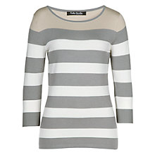 Buy Betty Barclay Three Tone Jumper, Grey / Cream Online at johnlewis.com