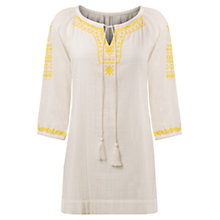 Buy East Anila Embroidered Tunic Top Online at johnlewis.com