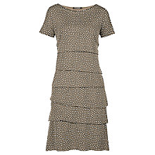 Buy Betty Barclay Spot Layered Dress, Khaki/Cream Online at johnlewis.com