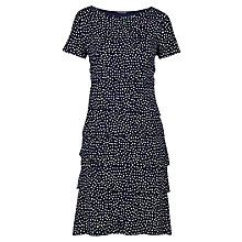 Buy Betty Barclay Spot Layered Dress, Dark Blue/Cream Online at johnlewis.com