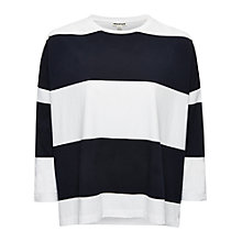 Buy Whistles Stripe Oversize Boxy T-Shirt, Blue Online at johnlewis.com