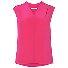 Buy L.K. Bennett Norway Silk Top, Power Pink Online at johnlewis.com