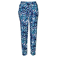 Buy Betty Barclay Animal Print Trousers, White / Dark Blue Online at johnlewis.com
