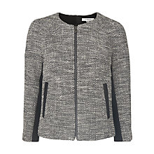 Buy L.K. Bennett Tweed Cynthia Jacket, Grey Online at johnlewis.com