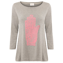 Buy East Hamza Hand Sweater, Smoke Online at johnlewis.com
