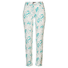 Buy Betty Barclay Perfect Body 4 Pocket Floral Jeans, White/Emerald Online at johnlewis.com