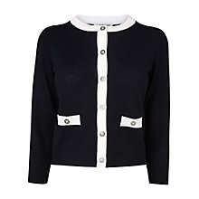 Buy L.K. Bennett Bayna Crew Neck Cardigan, Navy Online at johnlewis.com